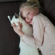 Lena met de kat